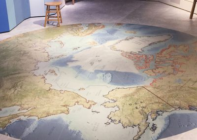 Custom Printed Floor & Ice, White | Museum of Nature, Arctic Exhibit
