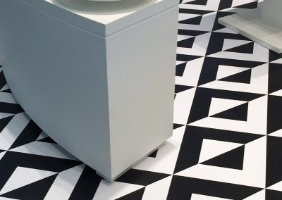 Shapes, Fractured Chevron cut from Solids,  Jet Black, custom White | iStore